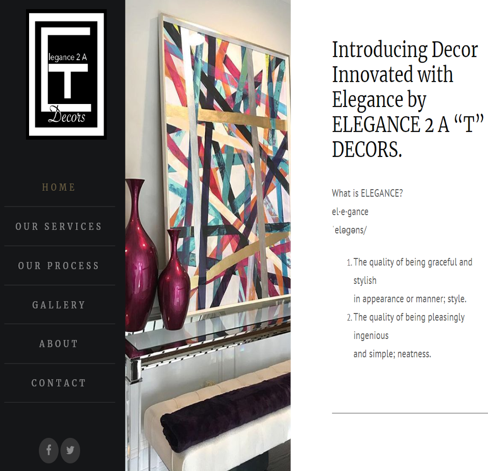 Elegance 2 a T Website